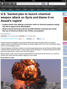 daily mail assad chem weapons false flag